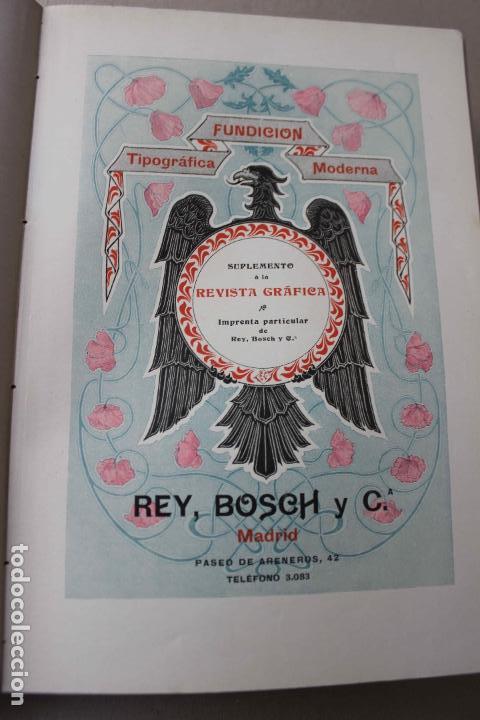 Libros antiguos: Revista grafica. Institut Català Arts del Llibre. 1901 num 419/1100. Canivell. Oliva de Vilanova - Foto 30 - 61851012