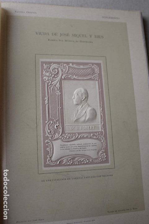 Libros antiguos: Revista grafica. Institut Català Arts del Llibre. 1901 num 419/1100. Canivell. Oliva de Vilanova - Foto 32 - 61851012