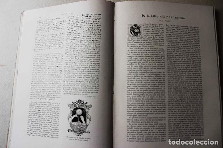 Libros antiguos: Revista grafica. Institut Català Arts del Llibre. 1901 num 419/1100. Canivell. Oliva de Vilanova - Foto 34 - 61851012