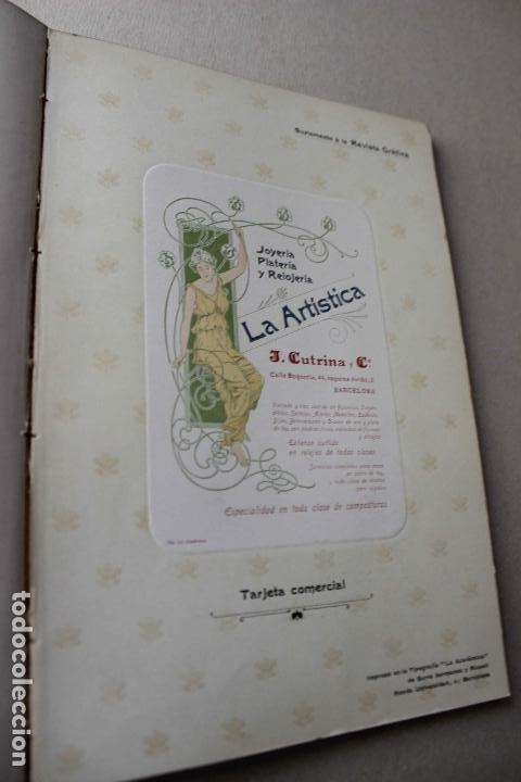Libros antiguos: Revista grafica. Institut Català Arts del Llibre. 1901 num 419/1100. Canivell. Oliva de Vilanova - Foto 41 - 61851012