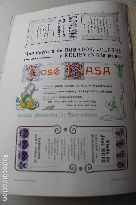 Libros antiguos: Revista grafica. Institut Català Arts del Llibre. 1901 num 419/1100. Canivell. Oliva de Vilanova - Foto 42 - 61851012