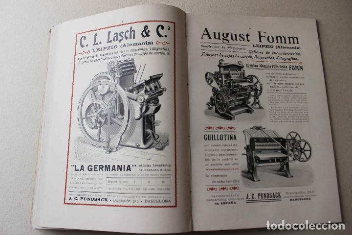 Libros antiguos: Revista grafica. Institut Català Arts del Llibre. 1901 num 419/1100. Canivell. Oliva de Vilanova - Foto 47 - 61851012