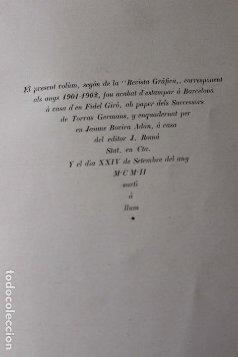 Libros antiguos: Revista grafica. Institut Català Arts del Llibre. 1901 num 419/1100. Canivell. Oliva de Vilanova - Foto 52 - 61851012