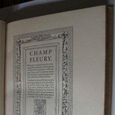 Libros antiguos: CHAMP FLEURY. GEOFFROY TORY. GROLIER CLUB. 1927 PRIMER LIBRO TIPOGRAFÍA. EDICIÓN LIMITADA 397 EJ.. Lote 65480414