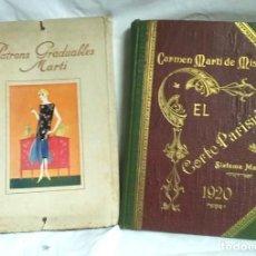 Libros antiguos: METODO DE CORTE PARISIEN AÑO 1920 Y PATRONES GRADUABLES SISTEMA CARMEN MARTI DE MISSÉ ENCUADERNADO. Lote 65693866