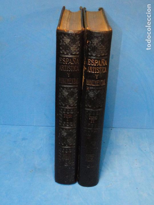 Libros antiguos: ESPAÑA ARTÍSTICA Y MONUMENTAL. (2 VOL. OBRA COMPLETA) - Foto 2 - 68575969