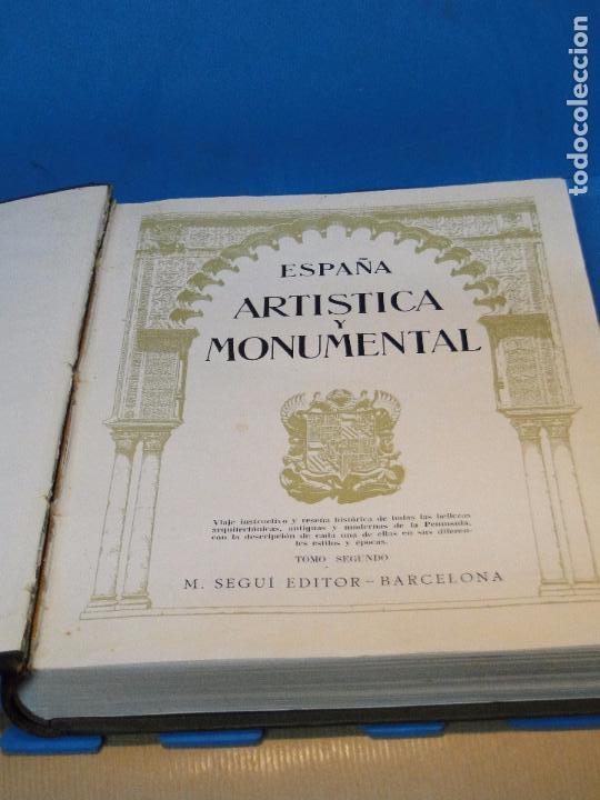 Libros antiguos: ESPAÑA ARTÍSTICA Y MONUMENTAL. (2 VOL. OBRA COMPLETA) - Foto 3 - 68575969