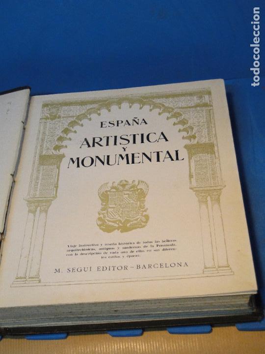 Libros antiguos: ESPAÑA ARTÍSTICA Y MONUMENTAL. (2 VOL. OBRA COMPLETA) - Foto 4 - 68575969