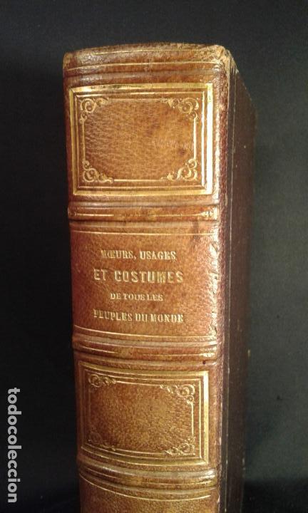 Libros antiguos: Histoire et iconographie des Moeurs, Usages et Costumes….Asie. Mertens. Bruxelles. 1846. - Foto 2 - 70388077