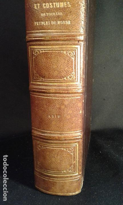 Libros antiguos: Histoire et iconographie des Moeurs, Usages et Costumes….Asie. Mertens. Bruxelles. 1846. - Foto 3 - 70388077