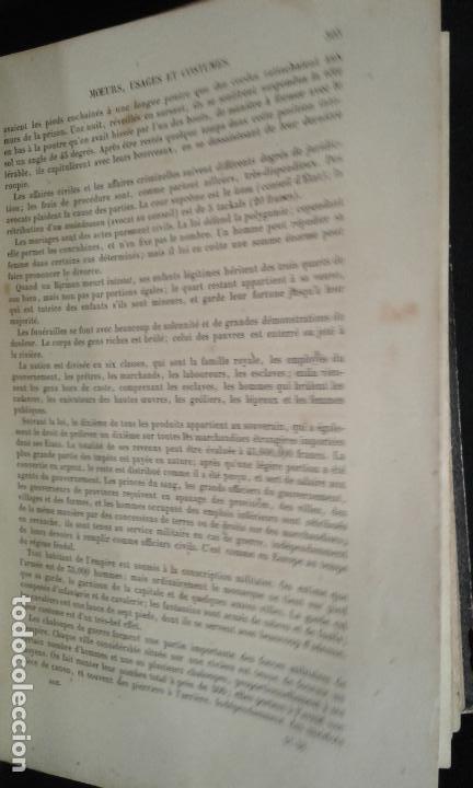 Libros antiguos: Histoire et iconographie des Moeurs, Usages et Costumes….Asie. Mertens. Bruxelles. 1846. - Foto 5 - 70388077