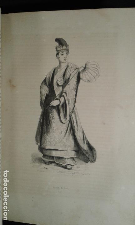 Libros antiguos: Histoire et iconographie des Moeurs, Usages et Costumes….Asie. Mertens. Bruxelles. 1846. - Foto 7 - 70388077