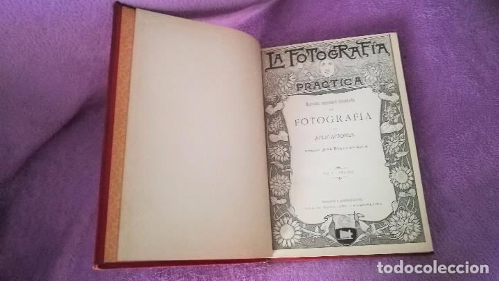Libros antiguos: LA FOTOGRAFIA PRACTICA, REVISTA MENSUAL ILUSTRADA Y SUS APLICACIONES, JOSE BALTA DE CELA 1897 - Foto 2 - 71607031