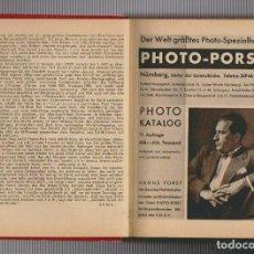 Libros antiguos: PHOTO KATALOG.PHOTO-PORST.NÜRNBERG.1927?. Lote 72451215