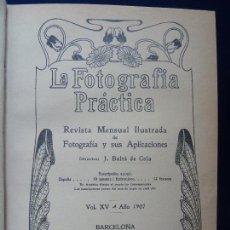Libros antiguos: LA FOTOGRAFÍA PRÁCTICA. VOL. XV. ENERO. DICIEMBRE DE 1907. AÑO COMPLETO.. Lote 77353261
