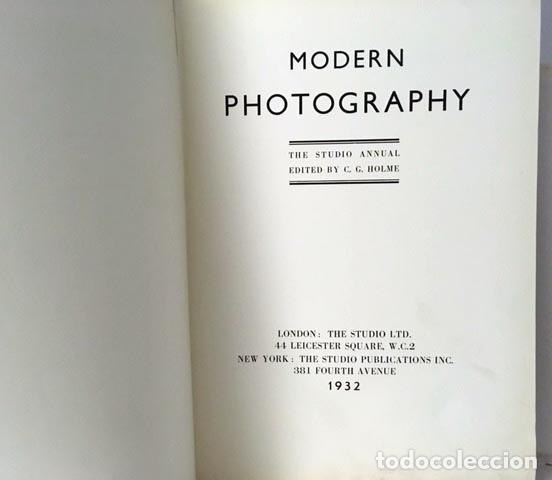 Libros antiguos: Modern Photography (The Studio Annual) 1932. (Man Ray, Bill Brandt, A. Kertész, Moholy-Nagy, E. Soug - Foto 2 - 79760093