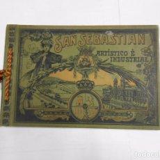Libros antiguos: SAN SEBASTIAN / DONOSTIA ARTISTICO E INDUSTRIAL. LUJOSO ALBUM DE FOTOGRAFIAS DE LA CIUDAD. TDKLT. Lote 82549532