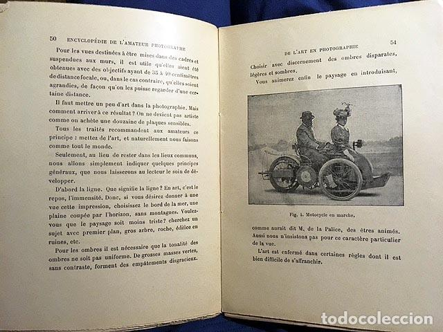 Libros antiguos: Fotografía antigua : Encyclopedie de l´amateur photographe (Le sujet; Mise au point.. (1897) - Foto 2 - 83106624