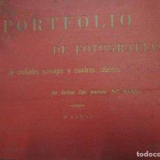 Libros antiguos: PORTFOLIO DE FOTOGRAFÍAS DE CIUDADES PAISAJES Y CUADROS CÉLEBRES DE TODOS LOS PAISES DEL MUNDO . Lote 84708940