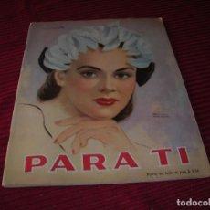 Libros antiguos: REVISTA PARA TÍ.PRECIOSA PORTADA DEL DIBUJANTE CHILENO RAUL MANTEOLA.. Lote 88783076