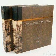 Libros antiguos: ATV ANGEL TOLDRÁ VIAZO, 2 VOL. POSTALS ANTIGUES DE CATALUÑA 28X30CM.. Lote 208226793