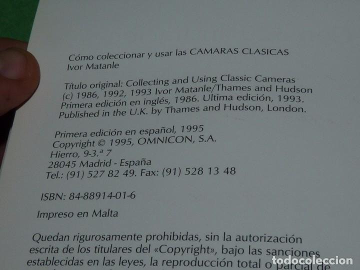 Libros antiguos: DIFICIL CÓMO COLECCIONAR Y USAR LAS CÁMARAS CLÁSICAS IVOR MATANLE 1995 FOTOGRAFIA VINTAGE OMNICON - Foto 16 - 102540679
