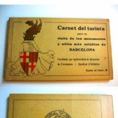 Libros antiguos: BARCELONA ( CARNET DEL TURISTA EN LA BARCELONA ) COMPLETO Y EXTRAORDINARIA CONSERVACION . Lote 102627967