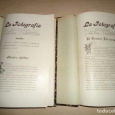 Libros antiguos: REVISTA - LA FOTOGRAFÍA - DIRECTOR ANTONIO CÁNOVAS - AÑOS I Y II - 1901-1902. Lote 103171711
