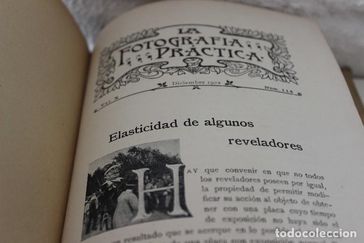 Libros antiguos: La fotografía práctica. Revista mensual ilustrada Vol. X. 1902. 50 primeros años industria foto. - Foto 10 - 103594431