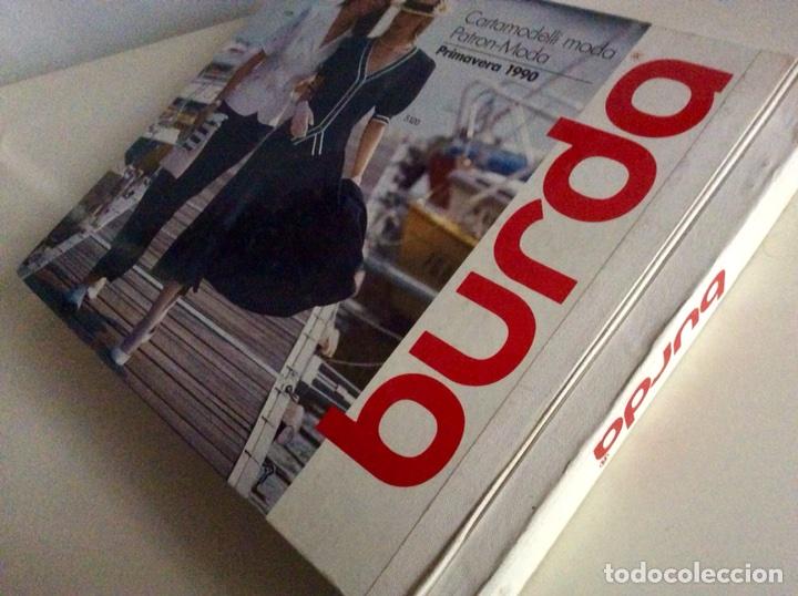 Libros antiguos: Anuario BURDA CARTAMODELLI MODA PATRÓN 1990 con más de 880pg y todas las medidas y patrones - Foto 2 - 106619899