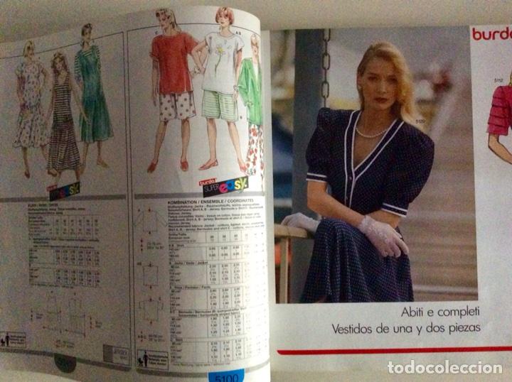 Libros antiguos: Anuario BURDA CARTAMODELLI MODA PATRÓN 1990 con más de 880pg y todas las medidas y patrones - Foto 8 - 106619899