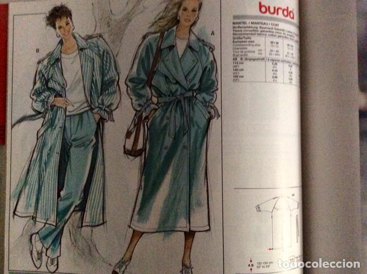 Libros antiguos: Anuario BURDA CARTAMODELLI MODA PATRÓN 1990 con más de 880pg y todas las medidas y patrones - Foto 11 - 106619899
