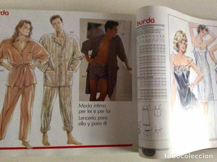 Libros antiguos: Anuario BURDA CARTAMODELLI MODA PATRÓN 1990 con más de 880pg y todas las medidas y patrones - Foto 15 - 106619899