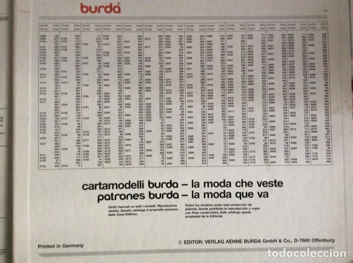 Libros antiguos: Anuario BURDA CARTAMODELLI MODA PATRÓN 1990 con más de 880pg y todas las medidas y patrones - Foto 17 - 106619899
