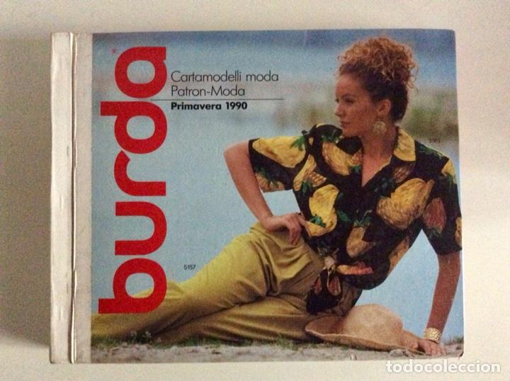 Libros antiguos: Anuario BURDA CARTAMODELLI MODA PATRÓN 1990 con más de 880pg y todas las medidas y patrones - Foto 18 - 106619899