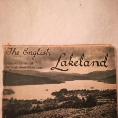 Libros antiguos: THE ENGLISH LAKELAND, PORTRAYED IN 56 DE LUXE PHOTOGRAVURES, WINDERMERE LAKE, EN INGLÉS, 1930. Lote 107945471