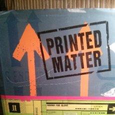 Libros antiguos: PRINTED MATTER DE ROGER WALTON, HBI.. Lote 109472047