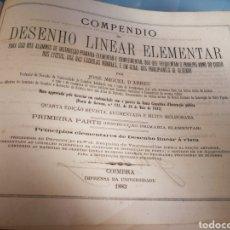 Libros antiguos: COMPENDIO DE DISEÑO LINEAL ELEMENTA. 1883. EN PORTUGUÉS. MILES DE DIBUJOS LINEALES.. Lote 110777138