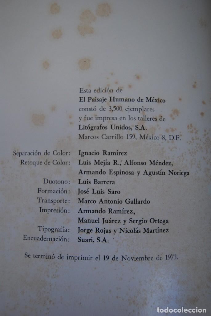 Libros antiguos: EL PAISAJE HUMANO DE MÉXICO - LIBRO DE FOTOGRAFÍA - BANCO NACIONAL DE MÉXICO 1973 - ED.LIMITADA - Foto 15 - 111213603