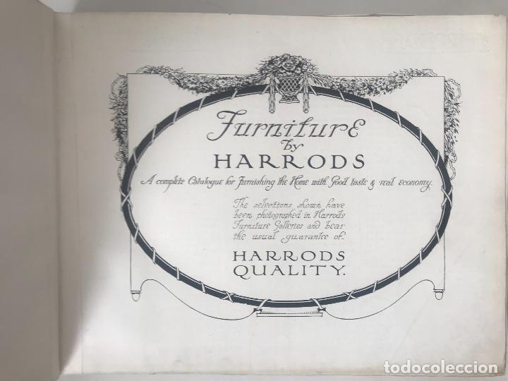 Libros antiguos: EXCELENTE LIBRO CATÁLOGO TARIFA FURNITURE BY HARRODS, ÚNICO. - Foto 2 - 113050771