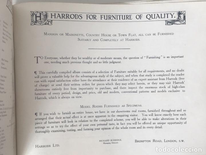 Libros antiguos: EXCELENTE LIBRO CATÁLOGO TARIFA FURNITURE BY HARRODS, ÚNICO. - Foto 3 - 113050771