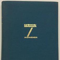 Libros antiguos: LUDWIG HOHLWEIN. BERLÍN, 1926. 223 LÁM. EN SEPIA Y 65 LÁM. EN COLOR. H. K. FRENZEL. PUBLICIDAD.. Lote 109020784