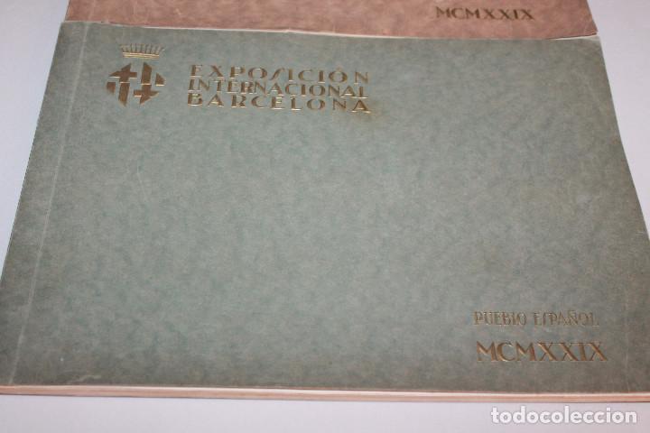 Libros antiguos: ÁLBUMES FOTOGRÁFICOS EXPOSICIÓN INTERNACIONAL BARCELONA 1929 - PUEBLO ESPAÑOL. INFORMACIÓN 34 FOTOS - Foto 3 - 115025119