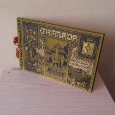 Libros antiguos: EMILIO CANET Y J.BARRERA - GRANADA ARTISTICA E INDUSTRIAL - LUJOSO ALBUM DE FOTOGRAFIAS DE 1910. Lote 116972695