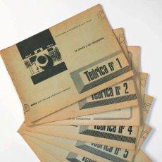 Libros antiguos: CURSO FOTOGRAFIA AFHA - CUADERNOS TEORIA DEL 1 AL 9, LA CÁMARA, FILTROS, ENFOQUE, DISTANCIA FOCAL. Lote 118531279