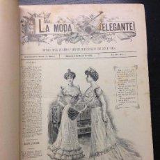 Libros antiguos: LA MODA ELEGANTE, PERIODICO ESPECIAL DE SEÑORAS Y SEÑORITAS, 1901 (COMPLETO). Lote 125072975