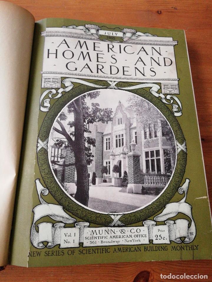 AMERICAN HOMES AND GARDENS. JULY-DECEMBER. 1905 (Libros Antiguos, Raros y Curiosos - Bellas artes, ocio y coleccion - Diseño y Fotografía)