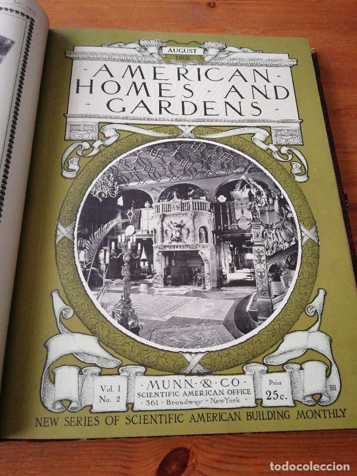 Libros antiguos: American Homes and Gardens. July-December. 1905 - Foto 10 - 125280495