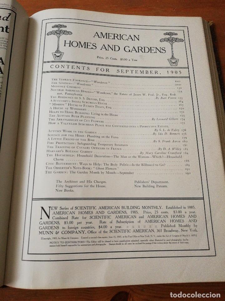 Libros antiguos: American Homes and Gardens. July-December. 1905 - Foto 17 - 125280495