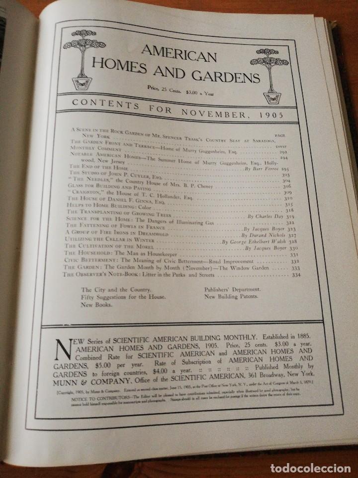 Libros antiguos: American Homes and Gardens. July-December. 1905 - Foto 26 - 125280495
